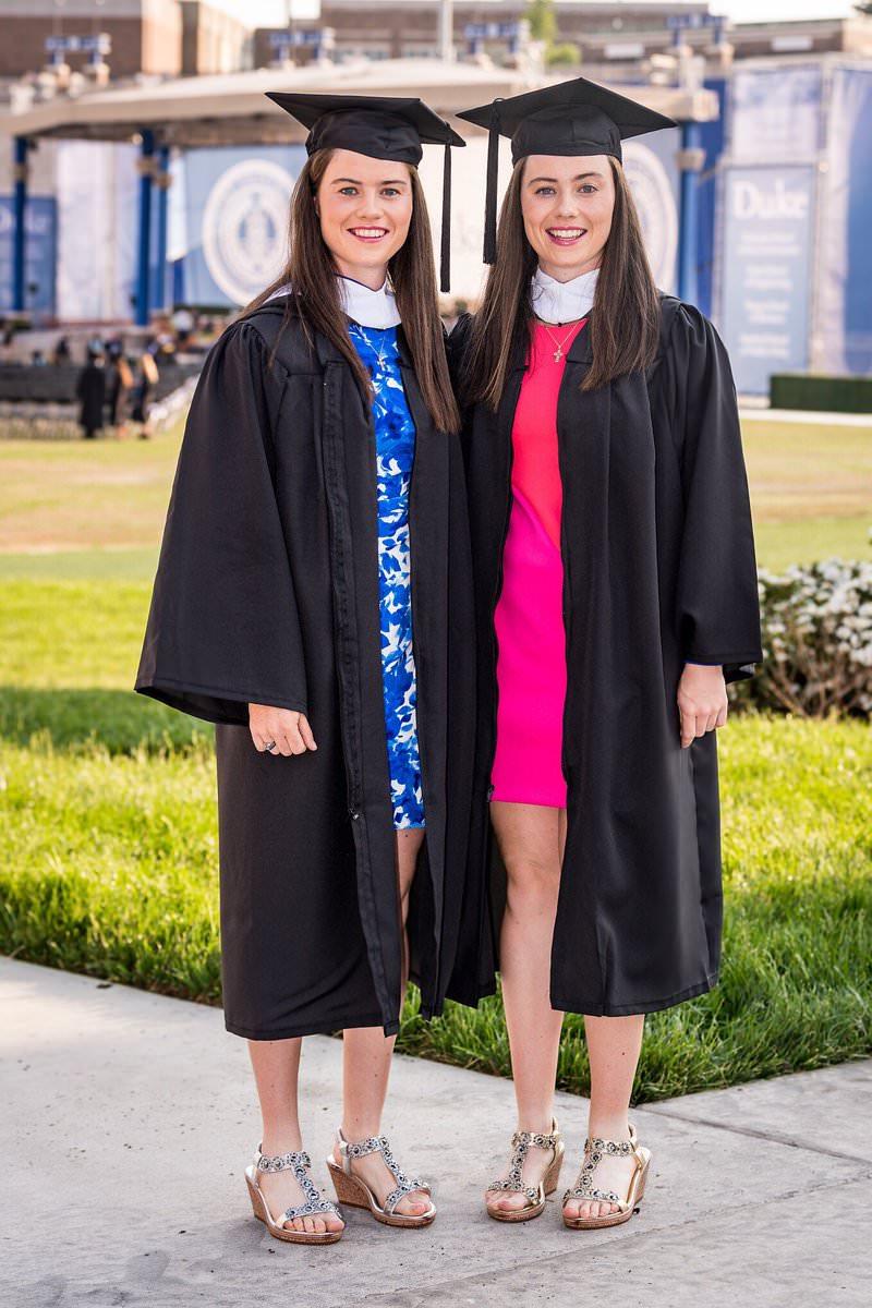 Leona and Lis Maguire at their Duke graduation last week