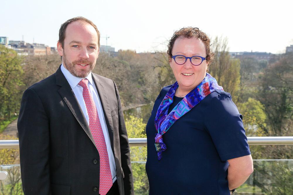 Pat Finn (CEO, Golfing Union of Ireland) and Sinead Heraty (CEO, Irish Ladies Golf Union).Picture: Golffile/CGI | Fran Caffrey