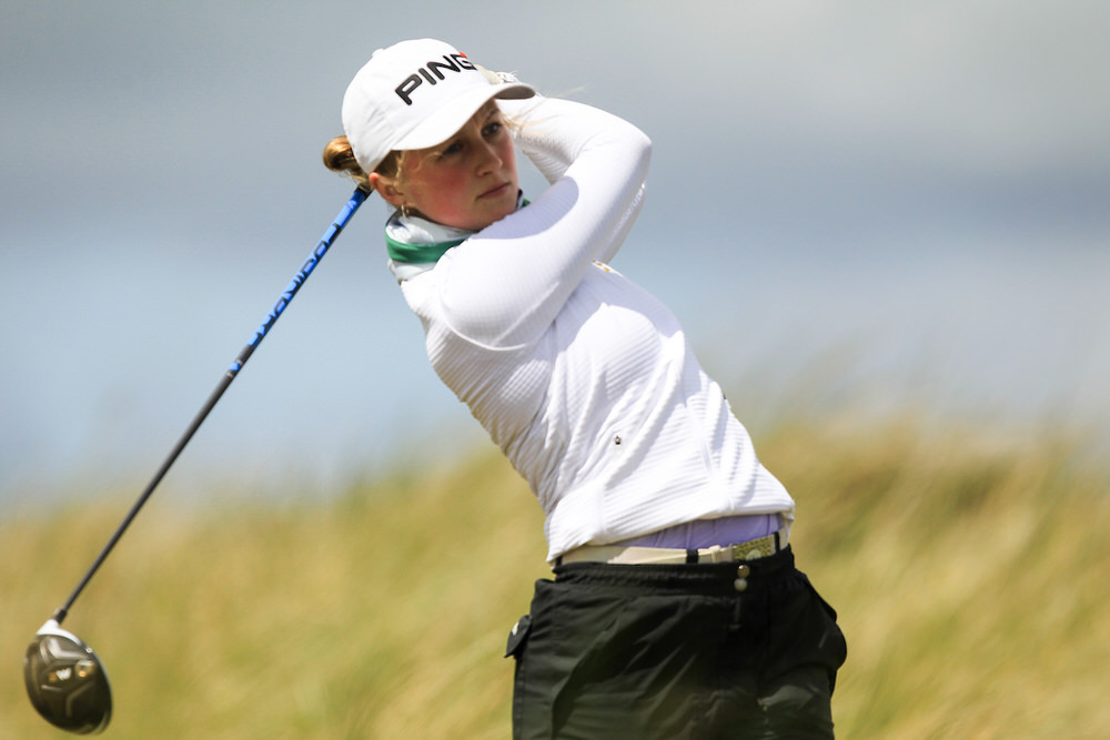 Leah Temple Lang (Elm Park) winner of the Ita Wallace Trophy at the 2018 Irish Women's Close Championship at Enniscrone Golf Club. Picture: Golffile | Fran Caffrey