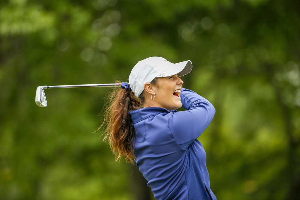 Olivia Mehaffey during a practice round ahead of the 2018 Curtis Cup at Quaker Ridge Golf Club in Scarsdale, N.Y. on Thursday, June 7, 2018. (Copyright USGA/Steven Gibbons)