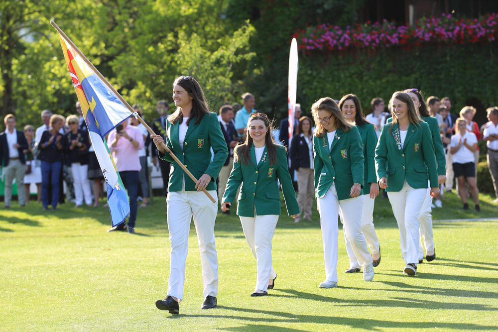 Daniell McVeigh leads on the Irish women's team in Austria