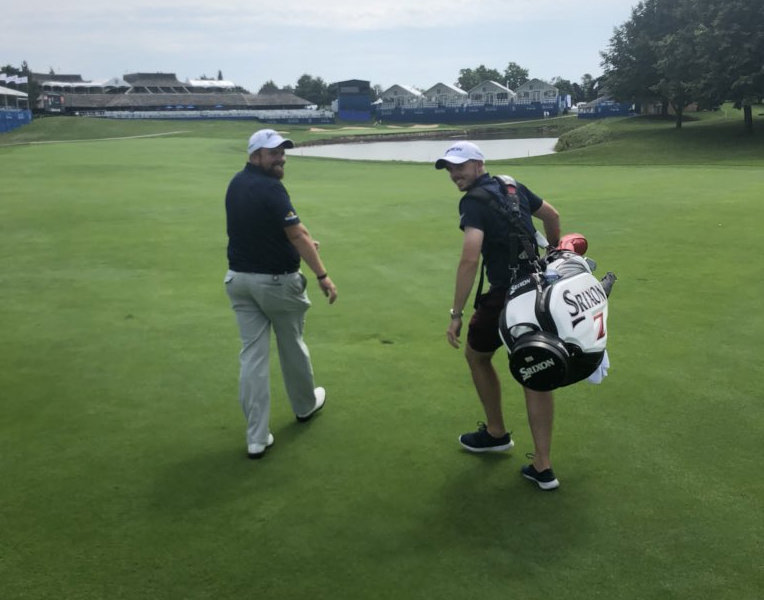 Shane Lowry and his caddie, brother Alan