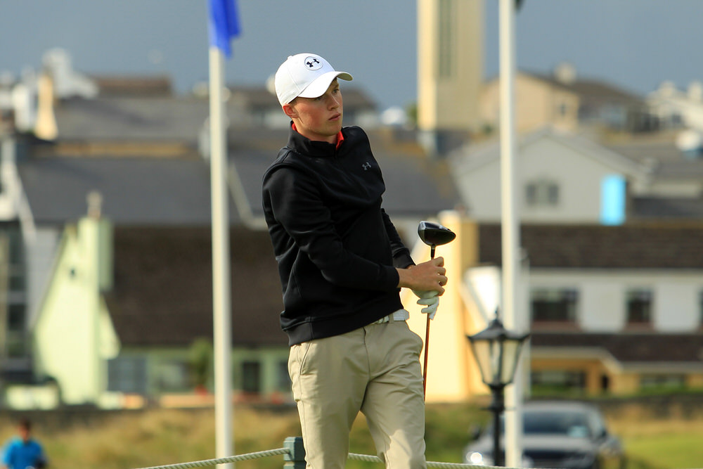 Mark Power (Kilkenny) after teeing of in the third round of the South of Ireland Championship at Lahinch.  Saturday 28th July 2018.Picture: Niall O'Shea