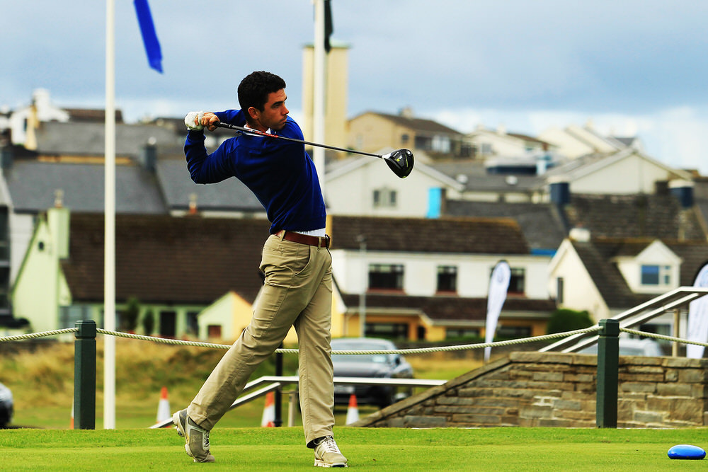 Jack Blake (The Island) teeing of in the third round of the South of Ireland Championship at Lahinch.  Saturday 28th July 2018.Picture: Niall O'Shea