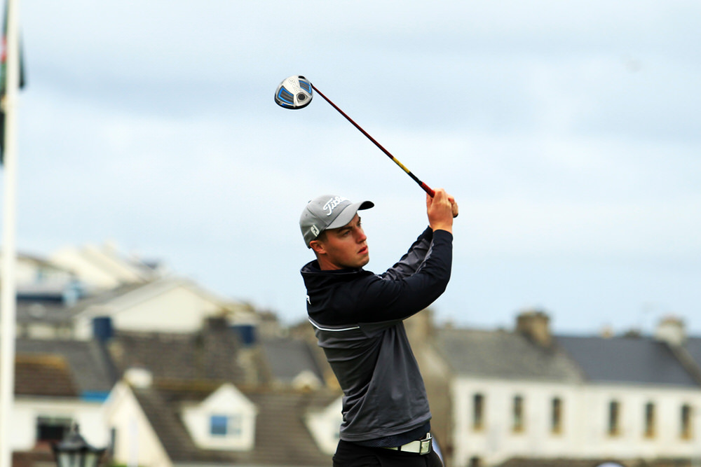 Jack McDonnell (Forrest Little)  teeing of in the third round of the South of Ireland Championship at Lahinch.  Saturday 28th July 2018.Picture: Niall O'Shea