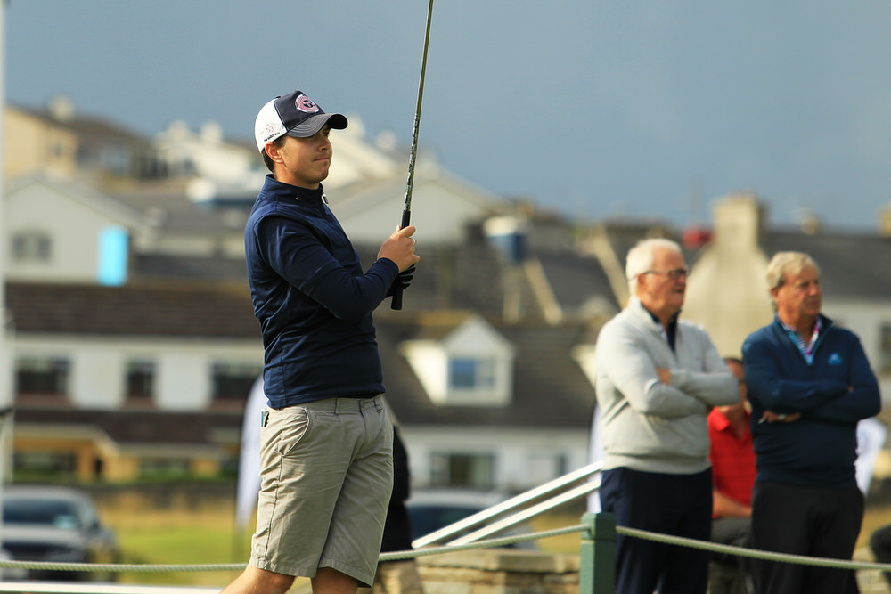 Andrew McCormack (Castletroy) teeing of in the third round of the South of Ireland Championship at Lahinch.  Saturday 28th July 2018.Picture: Niall O'Shea