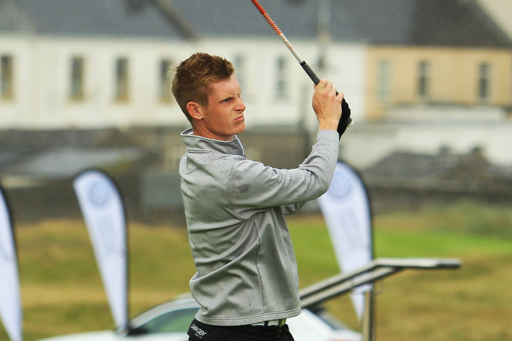 Ross Dutton (Tandragee) teeing of in the third round of the South of Ireland Championship at Lahinch.  Saturday 28th July 2018.Picture: Niall O'Shea