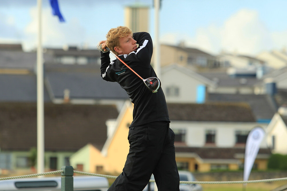 Alan Fahy (Dun Laoighre) teeing of in the third round of the South of Ireland Championship at Lahinch.  Saturday 28th July 2018.Picture: Niall O'Shea