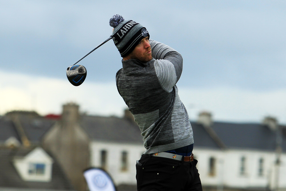Peter O'Keeffe (Douglas) teeing of in the third round of the South of Ireland Championship at Lahinch.  Saturday 28th July 2018.Picture: Niall O'Shea