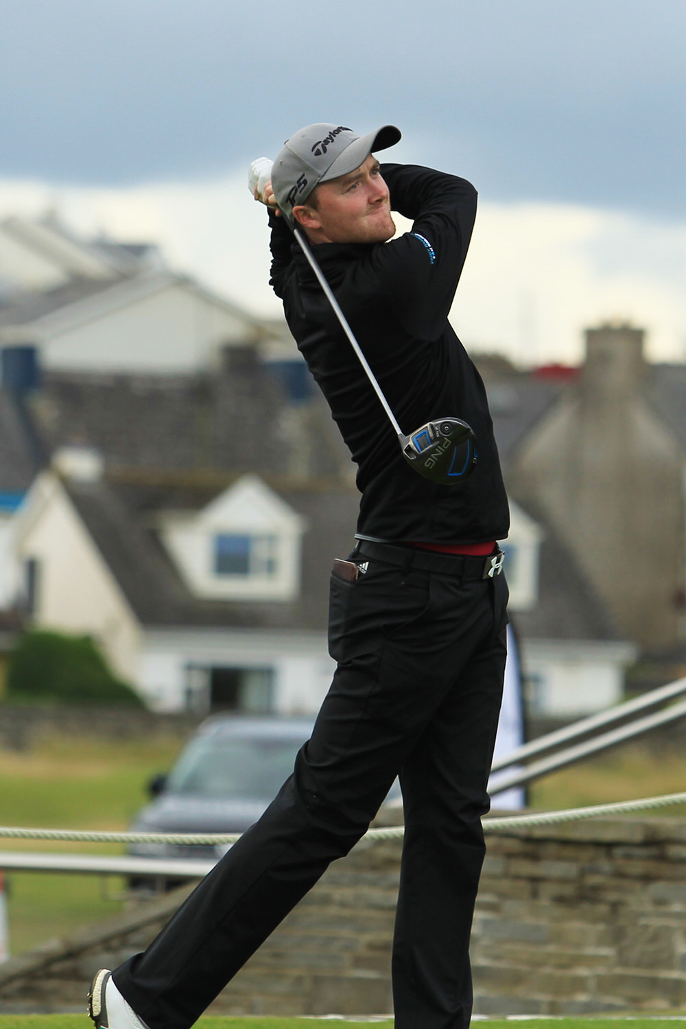 Eugene Smith (Laytown Betystown) teeing of in the third round of the South of Ireland Championship at Lahinch.  Saturday 28th July 2018.Picture: Nial O'Shea