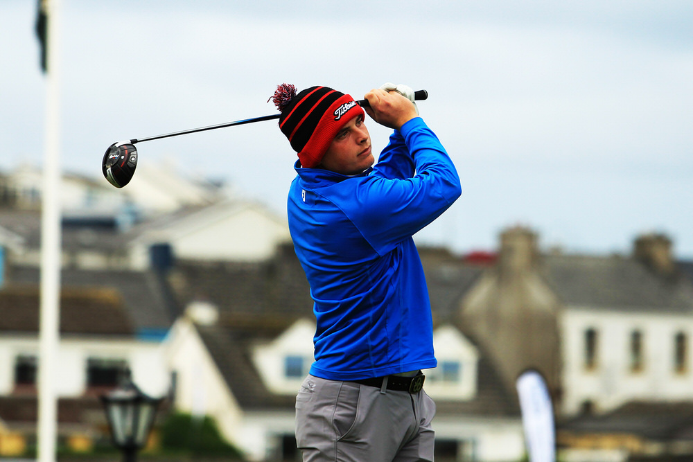 James Sugrue (Mallow) teeing of in the third round of the South of Ireland Championship at Lahinch.  Saturday 28th July 2018.Picture: Niall O'Shea