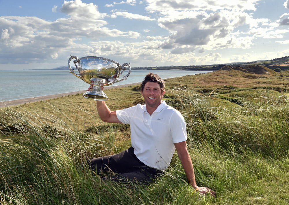 Robbie Cannon (Balbriggan) winner of the AIG 2018 Irish Amateur Close Championship at The European Club. Picture by  Pat Cashman