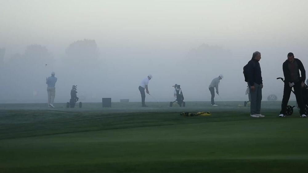 Fog caused several delays at Golf du Médoc Resort. Picture © EGA
