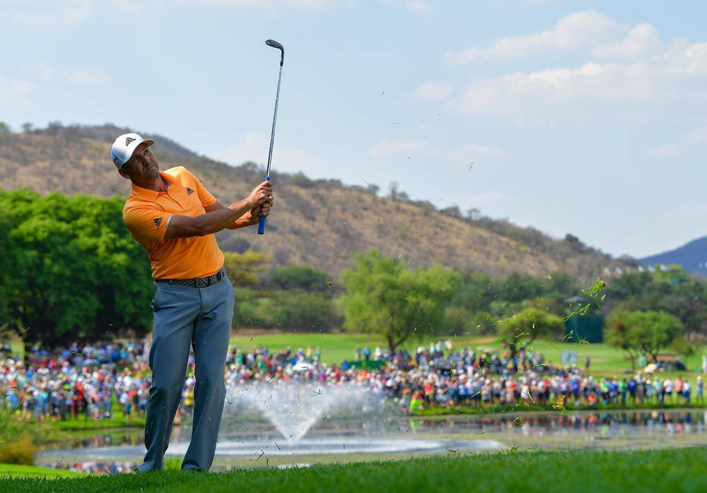 Sergio Garcia in action in the third round of the Nedbank Golf Challenge at Gary Player Country Club in Sun City. Picture: Getty Images