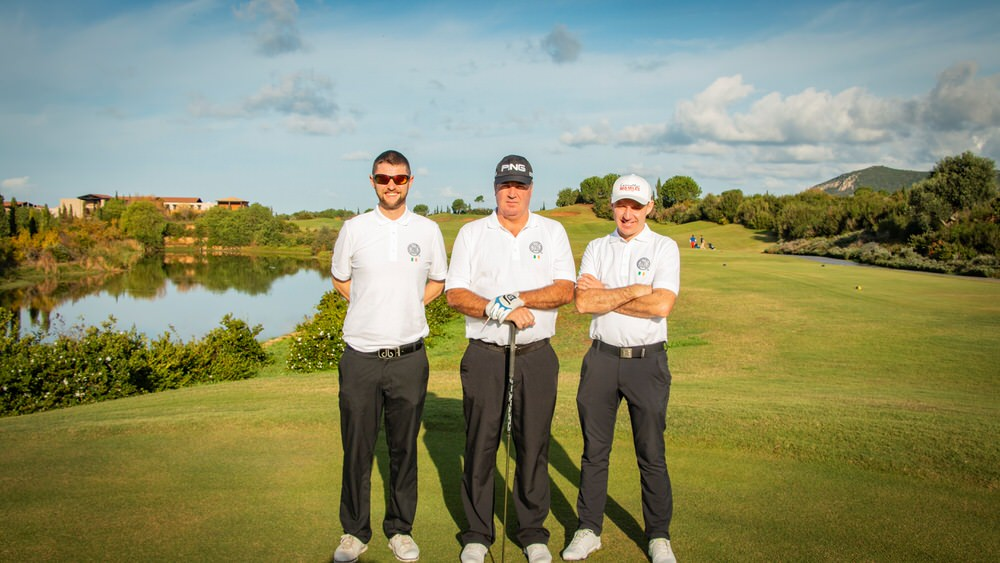 Joe Dillon, Damian Mooney and Colm Moriarty in Greece