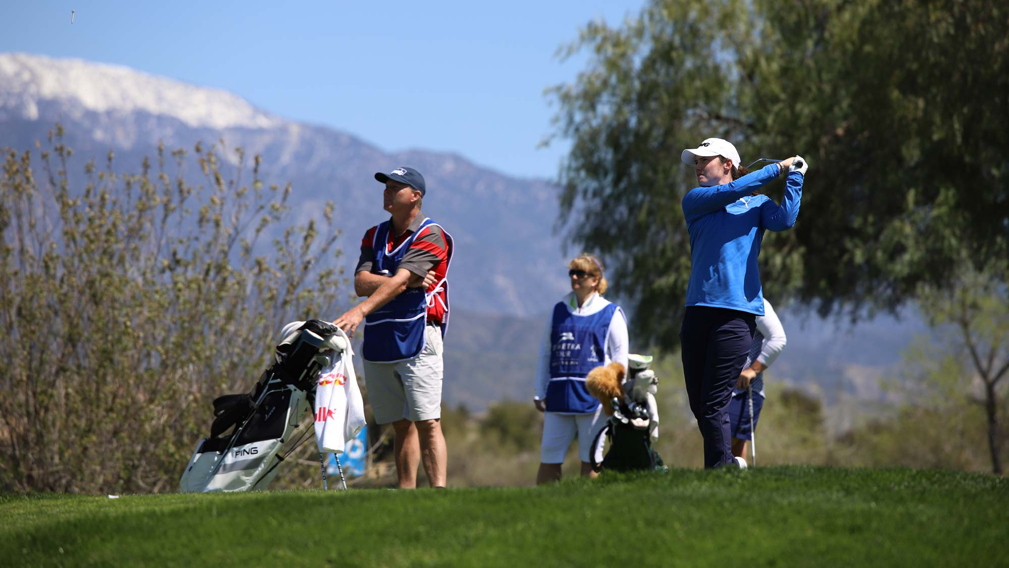 Leona Maguire in action at the IOA Championship in California. Picture: Symetra Tour