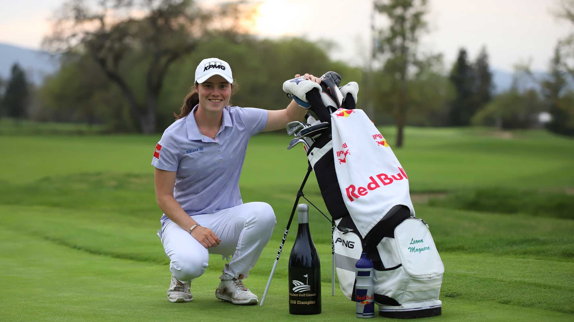 Leona Maguire gets ready to break out the bubbly following her maiden professional win in California