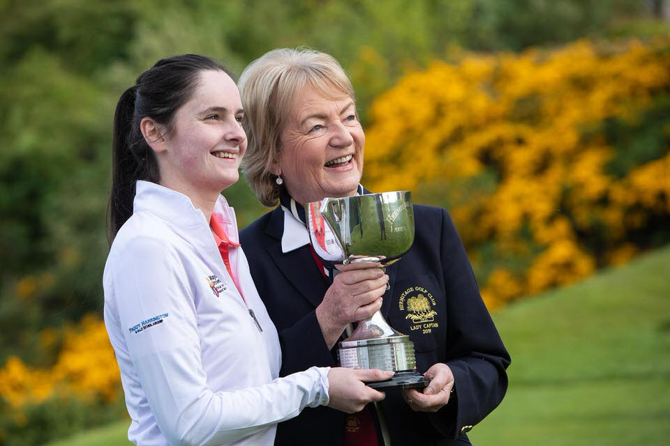 Hermitage Ladies Scratch Cup winner Eleanor Metcalfe (Laytown Bettystown  and Lady Captain Maefil McDermot