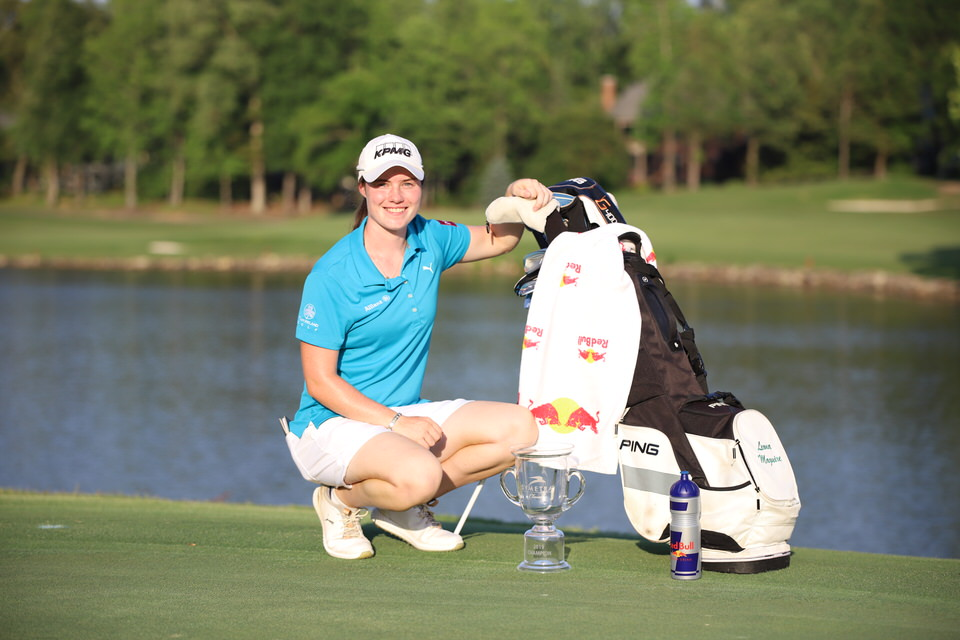 Leona Maguire with trophy and bag.JPG