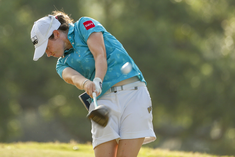 Leona Maguire hits her tee shot on the 12th hole during the second round at the 2019 U.S. Women's Open at Country Club of Charleston in Charleston, S.C. on Friday, May 31, 2019. (Copyright USGA/Chris Keane)