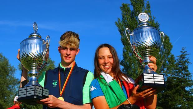 Luke O'Neill and Emilie Paltrinieri take the titles. Photo: DGV / stebl)