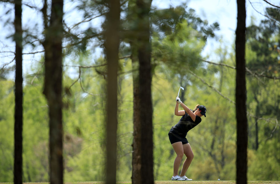 Olivia Mehaffey in action at the Augusta National Women's Amateur, Thursday, April 4, 2019.