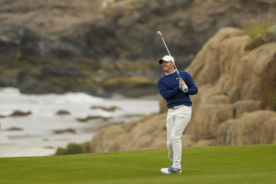 Rory McIlroy pulls his approach to the 10th hole during the first round at the 2019 U.S. Open at Pebble Beach Golf Links in Pebble Beach, Calif. on Thursday, June 13, 2019. (Copyright USGA/Chris Keane)