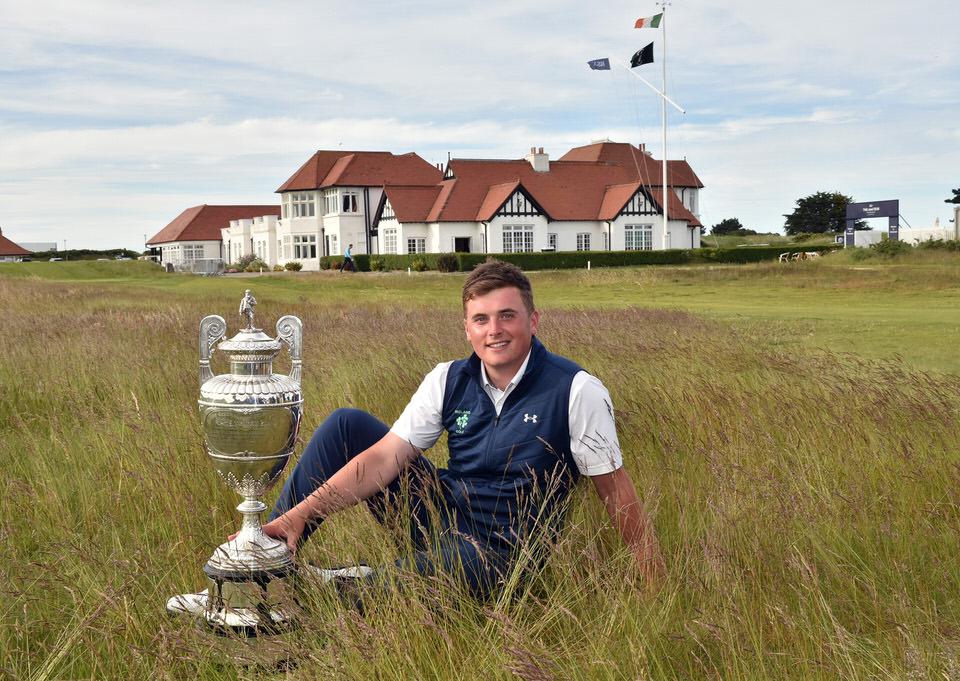 James Sugrue (Mallow) won the 2019 Amateur Championship at Portmarnock. Picture Pat Cashman