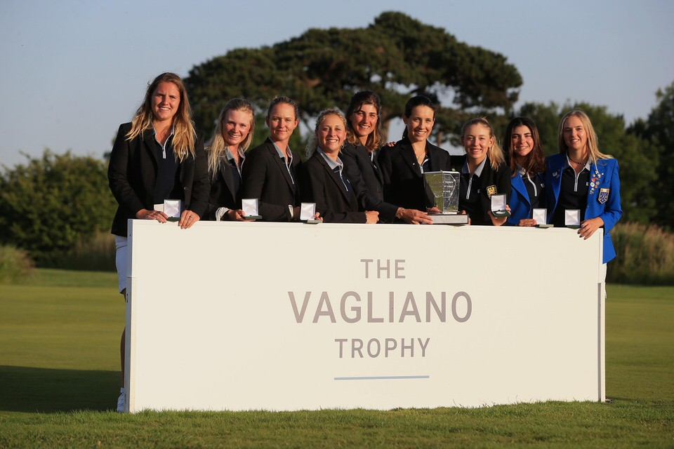 The Continent of Europe celebrate winning The Vagliano Trophy at Royal St George's in Kent. Credit: The R&A.