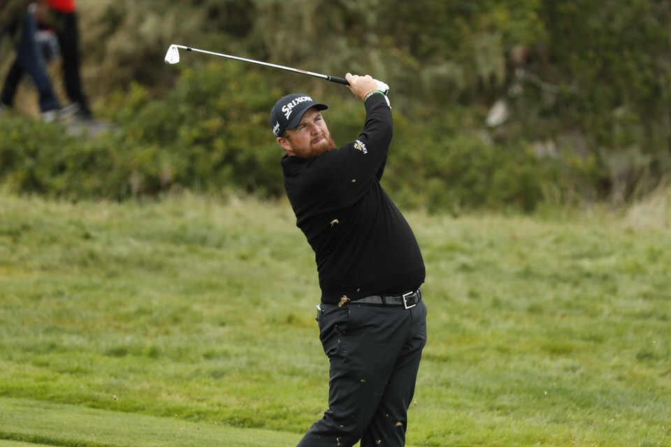 Shane Lowry plays his approach shot on the third hole during the final round at the 2019 U.S. Open at Pebble Beach Golf Links in Pebble Beach, Calif. on Sunday, June 16, 2019. (Copyright USGA/Chris Keane)