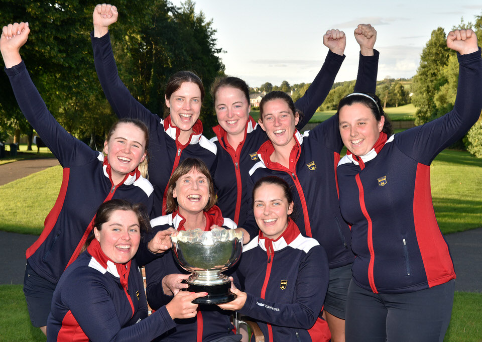 Munster celebrate their first win in the Women's Interprovincials for 16 years. Picture:  Pat Cashman