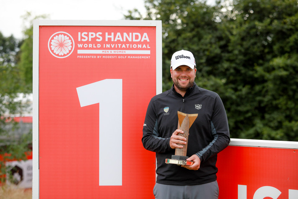 PressEye - Belfast - Northern Ireland - 18th August 2019Fourth and Final Round of the ISPS Handa World Invitational Men / Women. The competition takes place from August 14th - 18th at Galgorm Castle Golf Club and Masserene Golf Club. Pictured: Jack Senior.Picture: Philip Magowan / PressEye