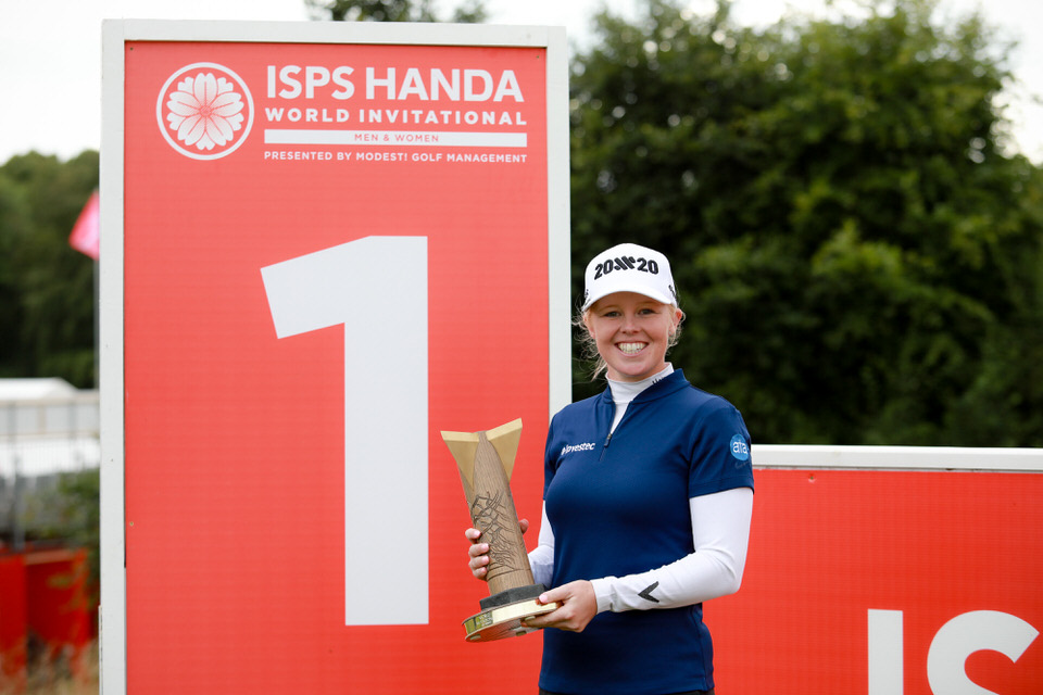 PressEye - Belfast - Northern Ireland - 18th August 2019Fourth and Final Round of the ISPS Handa World Invitational Men / Women. The competition takes place from August 14th - 18th at Galgorm Castle Golf Club and Masserene Golf Club. Pictured: Stephanie Meadow.Picture: Philip Magowan / PressEye