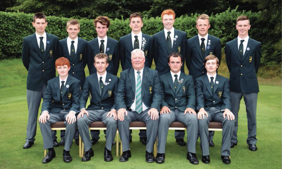 The 2013 Boys Home International team of Robin Dawson (Faithlegg), Paul McBride (The Island), Jack Walsh (Castle), Gareth Lappin (Belvoir Park), Jordan Hood (Galgorm Castle), Sean Flanagan (County Sligo), Ronan Mullarney (Galway), Alec Myles (Newlands), Rowan Lester (Hermitage), David Carey (Carton House), James Sugrue (Mallow)