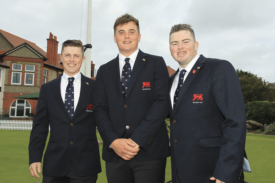 Walker Cup trio Conor Purcell, James Sugrue and Caolan Rafferty