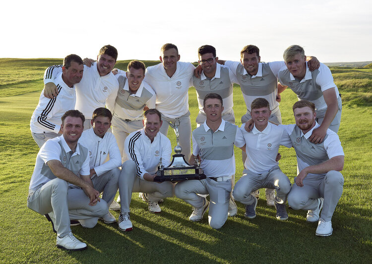 England celebrate with the Raymond Trophy. Picture:  Pat Cashman