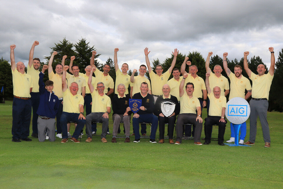 Team Nenagh winners of the AIG Jimmy Bruen Shield Munster Final, Nenagh Golf Club, Nenagh, Co Tipparery.  20/07/2019. Picture: Golffile   Thos Caffrey   All photo usage must carry mandatory copyright credit (© Golffile   Thos Caffrey)