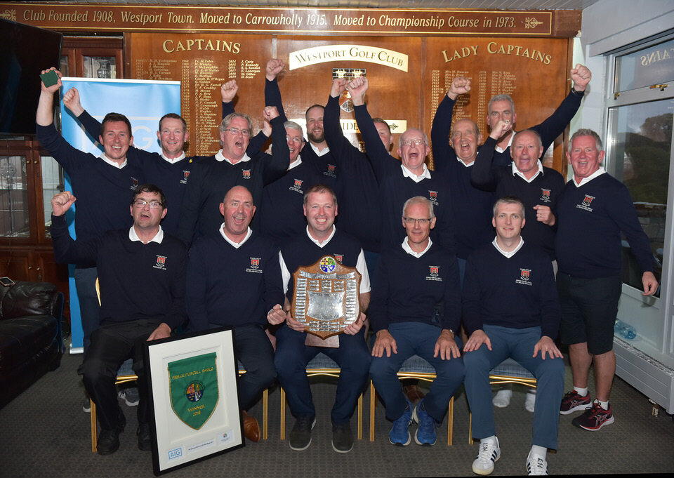 Charleville celebrate their AIG Pierce Purcell win at Westport. Picture:  Pat Cashman