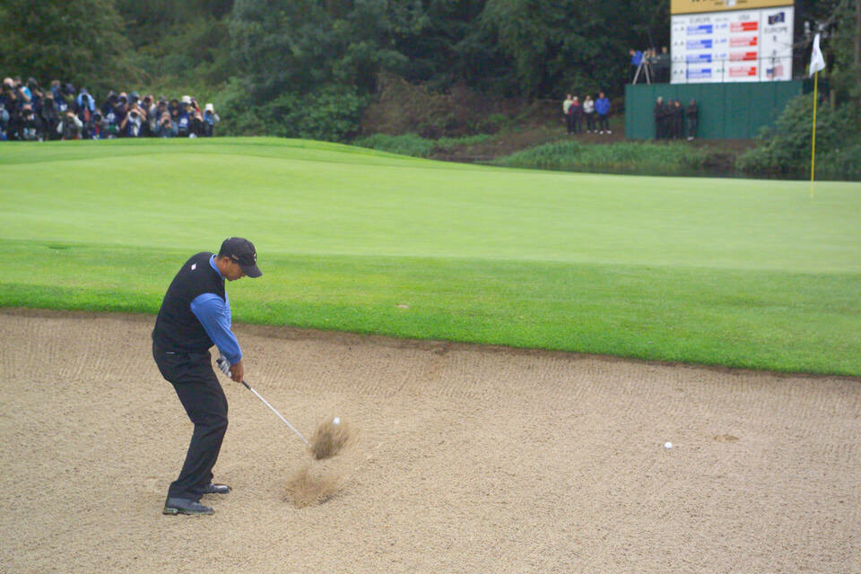 Tiger Woods in action during the 2006 Ryder Cup at The K Club in Co Kildare. Picture: Golffile