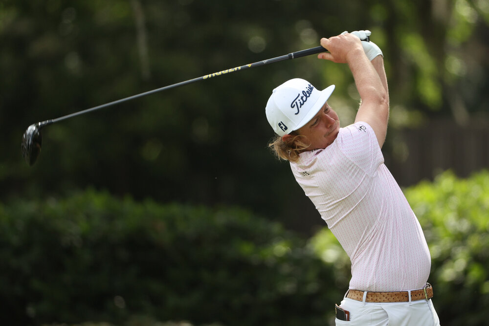 HILTON HEAD ISLAND, SOUTH CAROLINA - APRIL 16: Cameron Smith of Australia plays his shot from the third tee during the second round of the RBC Heritage on April 16, 2021 at Harbour Town Golf Links in Hilton Head Island, South Carolina. (Photo by Patrick Smith/Getty Images)