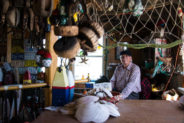 Owner, Roger H. Crooks, of the Buoy Shack at 72 Peggy's Point Road, Nova Scotia