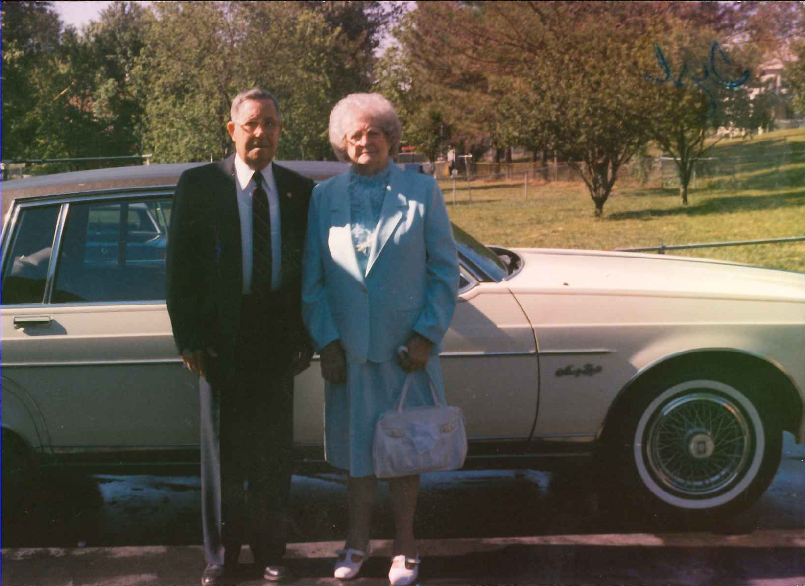 Photo of Hubert and Esther Taubert in Fentress County, TN.