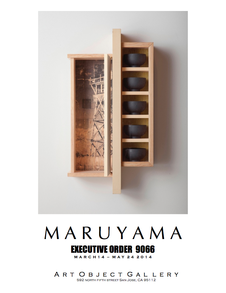 "WATCHTOWER. Pine, Sitka spruce, fir, ink, painted wooden bowls, glass. 35""x15""x6"""