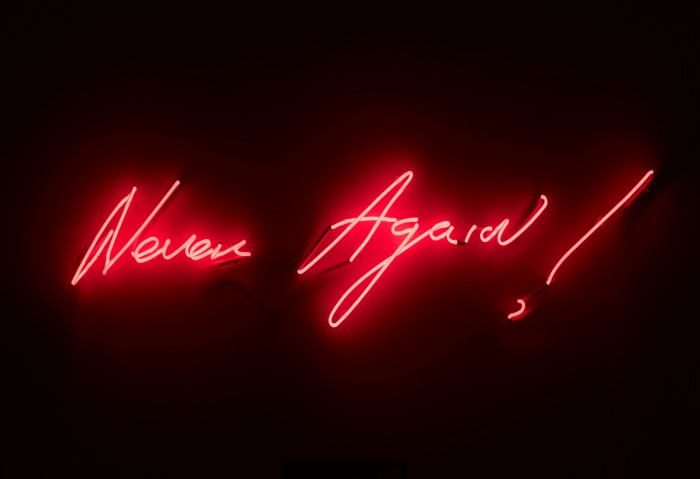 Tracey Emin, Never Again!, 2012,(c) the artist.