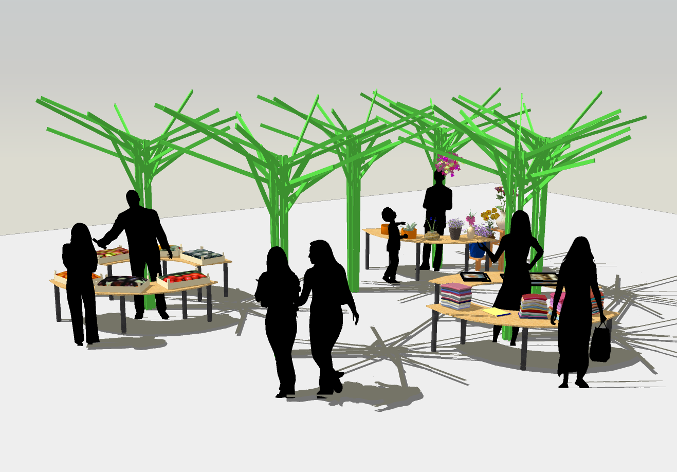 A standalone rendering of the marketplace and potential layout.