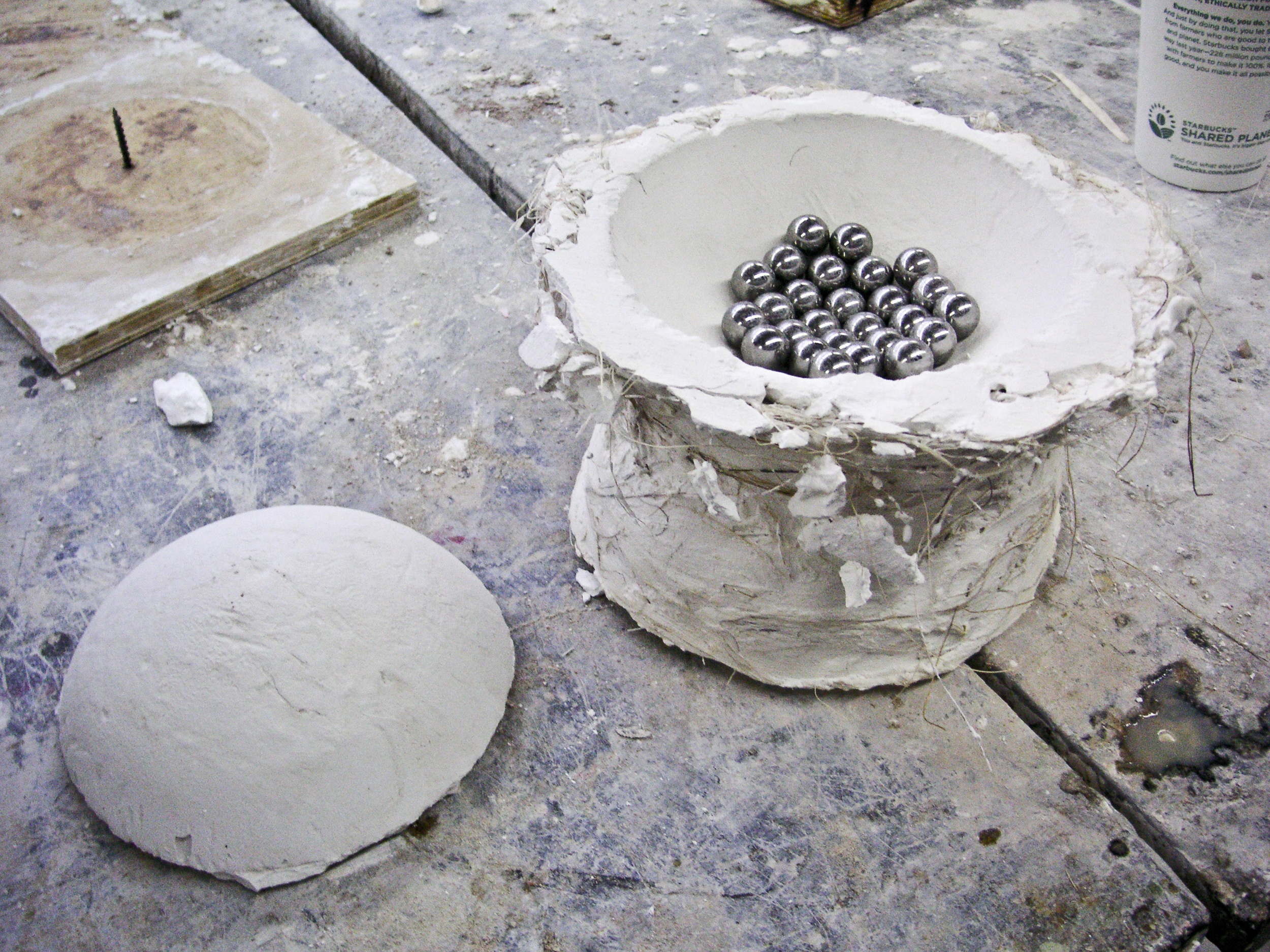 I used ball bearings in the base to create the consistency and fluidity of motion found in nesting bowls.