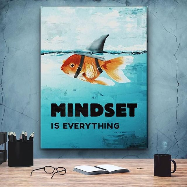 In honor of #discoverychannel  #sharkweek here is a little #fridaymotivation let's finish this week on the right mindset. . . . . #mindset #mindsetiseverything #creativedesign #creativeprinter #posters #motivationalposters #positivevibes #repost from @ikonick