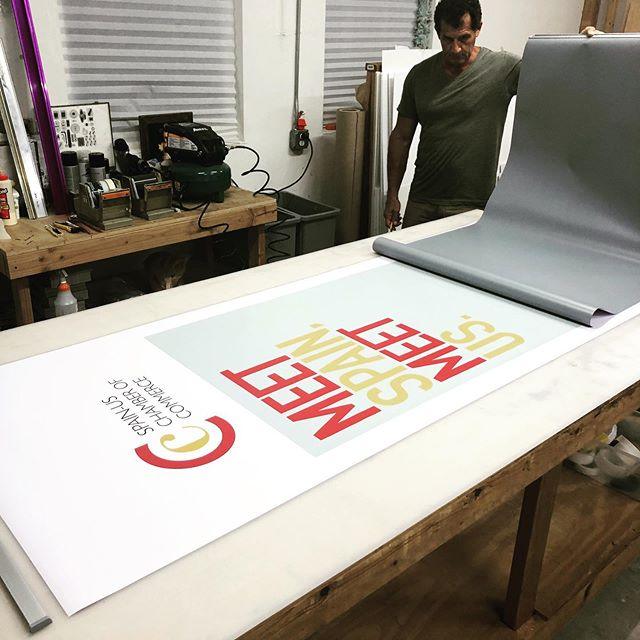 Finishing Two roll up banners in record time (less than 3 hours after ordering)... need something printed today? Call us now!. . . . #rollups #retractablebanner #eventbanner #events #miamievents #chamberofcommerce #spain #localbusiness #printshop #rushprinting #smallbusiness #girlboss