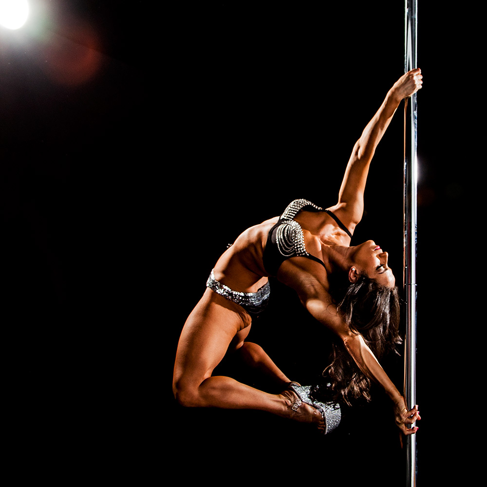 Estee Zakar   Estee Zakar is an international Master instructor, judge, performer and pole fitness model. Estee was the first Xpole Model and sponsored athlete in the USA. She is a Bad Kitty, Pole Fit brand director, and also represents Mighty grip & Dew point grip aids.