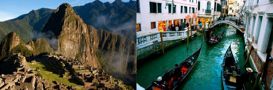 Machu Picchu; lost city of the Inca's in Peru. Venice, Italy